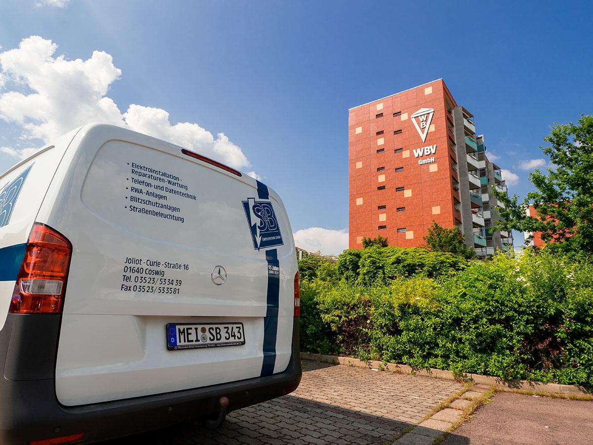 Unsere Projekte | WBV Coswig Hochhaus und Fahrzeug Elektrotechnik Coswig