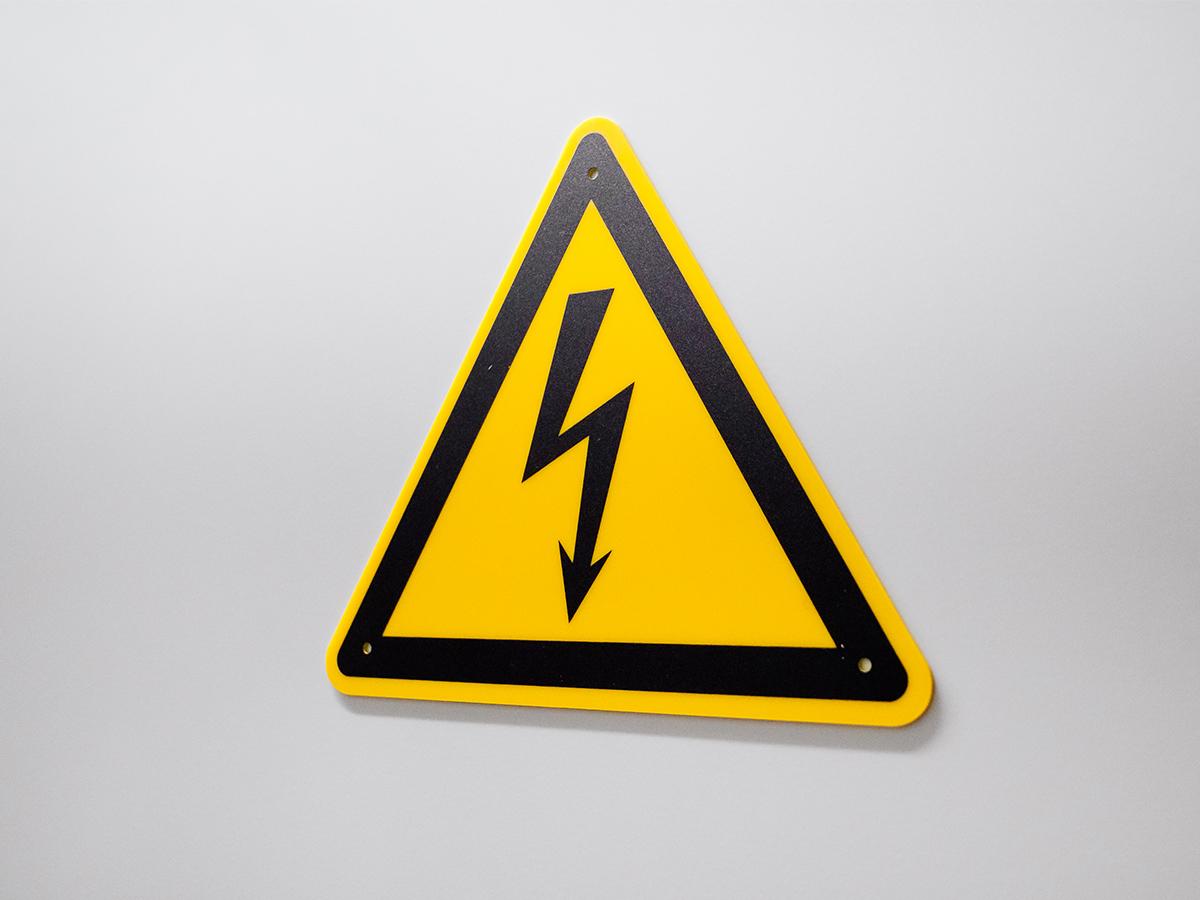 Warnschild Strom